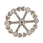 Victorian Gold Diamond Brooch