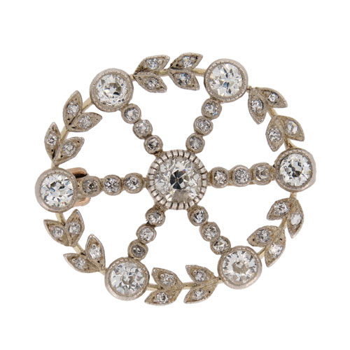 Victorian Gold Diamond Brooch