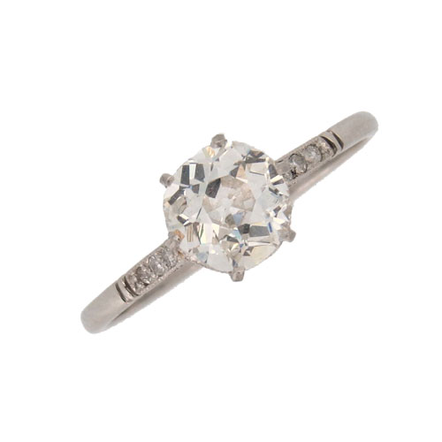 Victorian Pretty Diamond Solitaire Ring