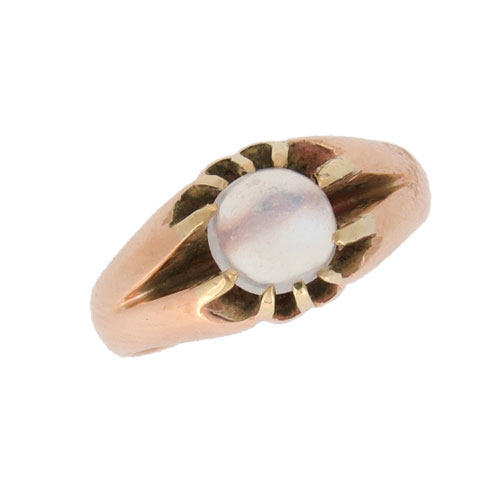 Victorian Moonstone Solitaire Ring