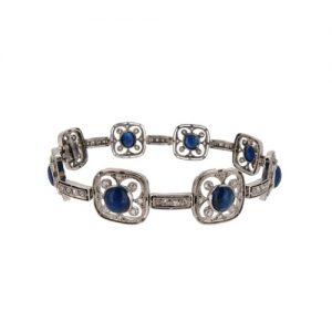 Art Deco Sapphire And Diamond Cocktail Bracelet