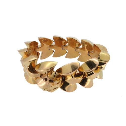 Retro Classic 1950s Gold Bracelet