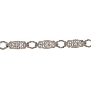 Edwardian Diamond Panel Bracelet