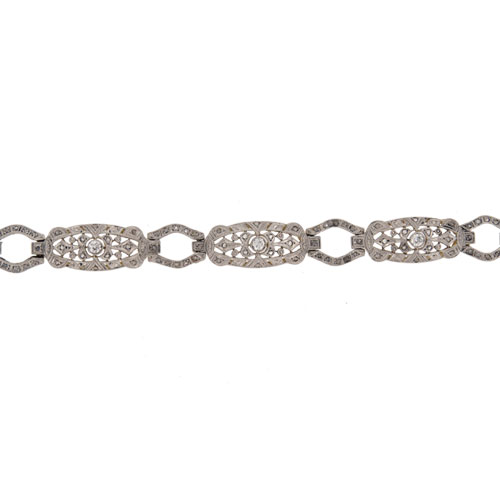 Edwardian Diamond Panel Bracelet