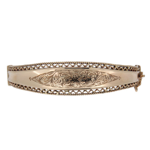 Pre Owned Gold Half Hinged Bangle