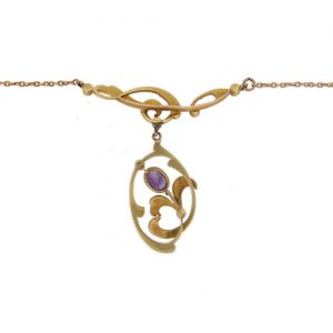 Victorian Gold Amethyst And Pearl Necklet