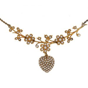 Victorian Gold Articulated Pearl Necklet