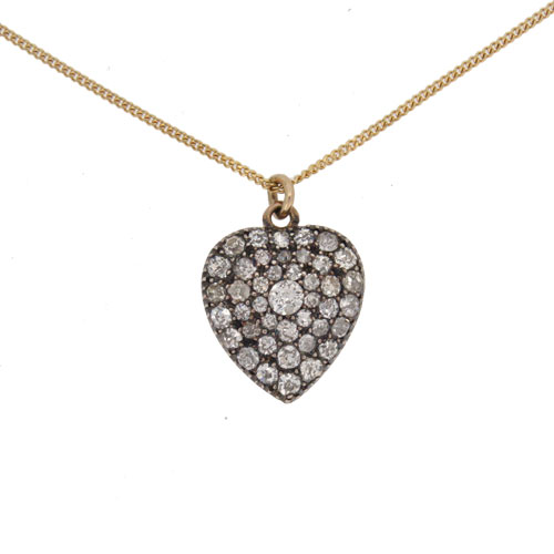 Victorian Gold Diamond Heart Pendant / Locket