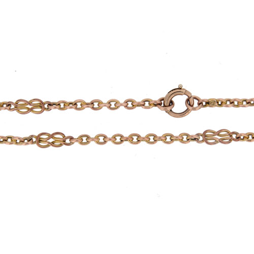 Victorian Gold Fancy Link Guard Chain