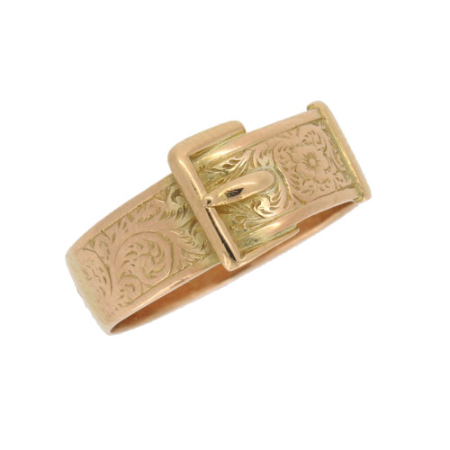 Victorian Gold Buckle Ring