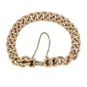 Victorian Classic Gold Curb link Bracelet