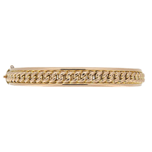 Victorian 15 carat Gold Half Hinged Bangle