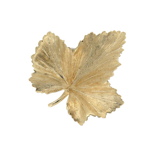 Pre owned Gold Leaf Brooch