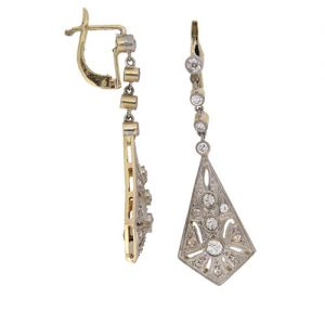 Earring with side view