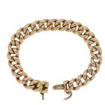 Victorian Classic Gold Curb link Bracelet