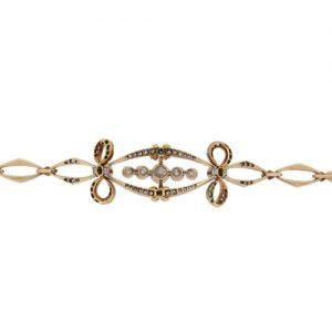 Edwardian Diamond and Demantoid Garnet Bracelet