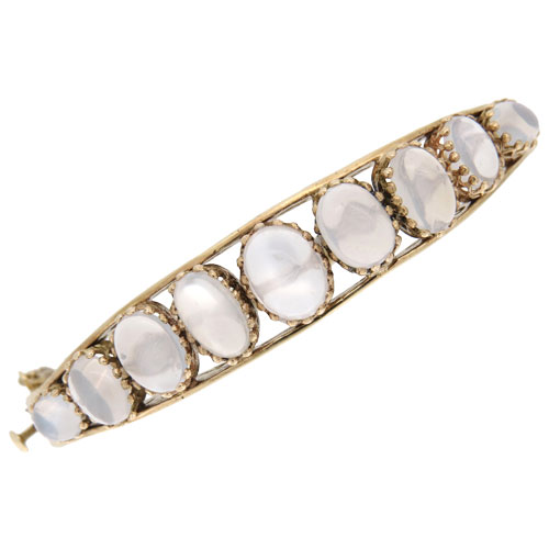 Victorian Gold Moonstone Bangle