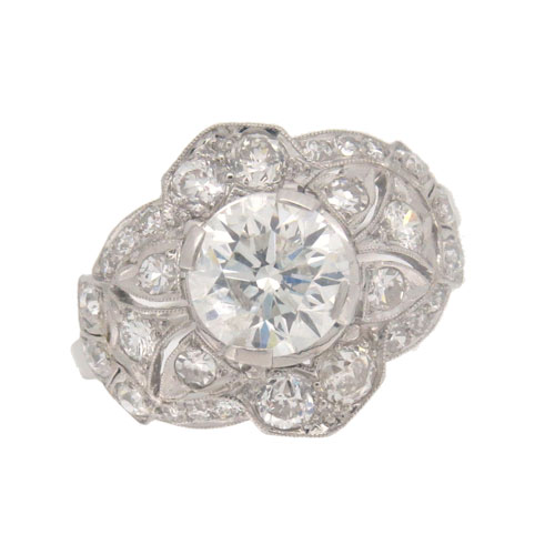 Pre Owned Diamond Cluster Ring