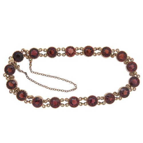 Victorian Gold Garnet Bracelet