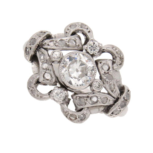 Edwardian Fancy Diamond Cluster Ring