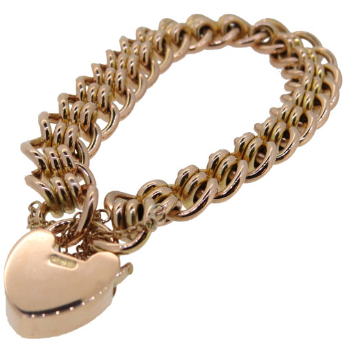 Victorian Gold Double Roller Curb Link Bracelet