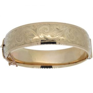 1960s Gold Half Hinged Bangle