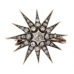 Victorian Diamond Star Brooch / Pendant