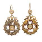 Victorian Gold Etruscan Drop Earrings