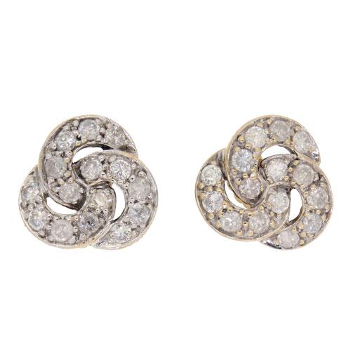 Pre Owned Diamond Cer Stud Earrings Sold