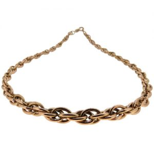 1960s French Gold Graduated Spiga Link Collar