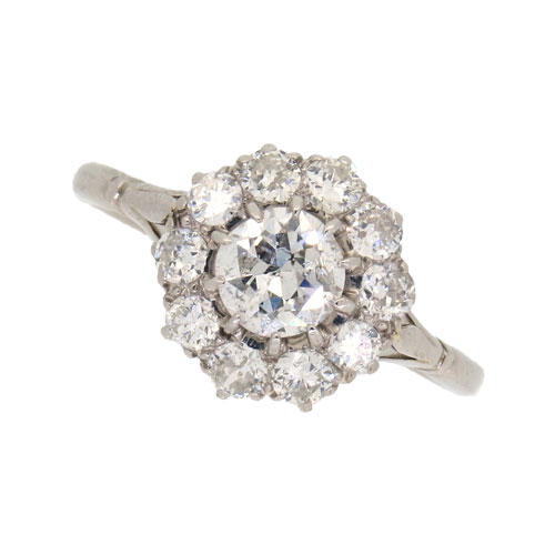 Edwardian Diamond Daisy Cluster Ring