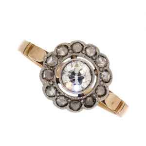 Victorian Diamond Daisy Cluster Ring