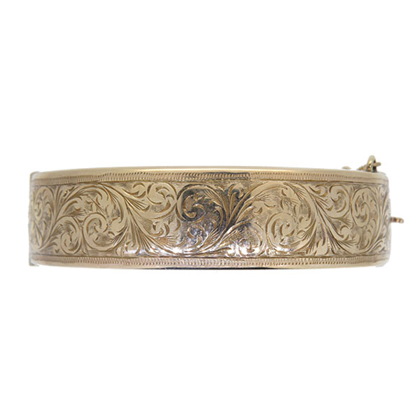 Pre Owned 1970s Gold Half Hinged Bangle