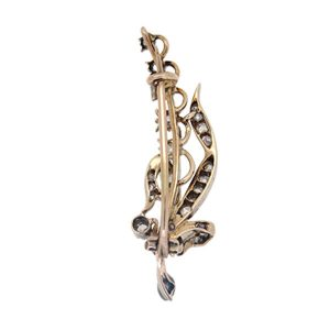 Victorian Diamond Lily Of The Valley Brooch