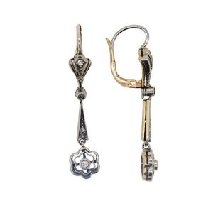 Art Deco Diamond Drop Earrings