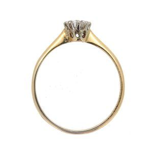 Retro 1950s Diamond Solitaire Ring