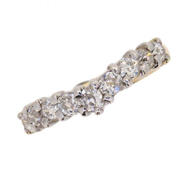 Pre Owned Diamond Half Hoop Wishbone Ring
