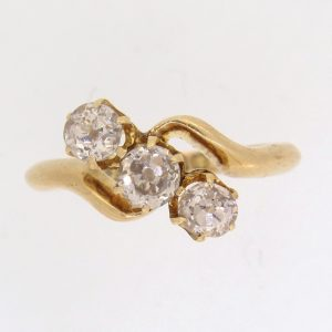 Pre Owned Three Stone Twist Diamond Ring