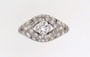 1920's Diamond Bombe Cluster Ring