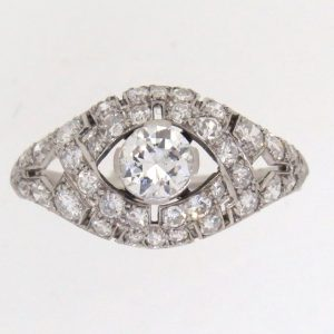 1920's Diamond Bombe Cluster Ring