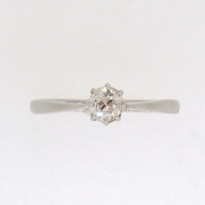 Pre-Owned Platinum Old Cut Diamond single stone ring