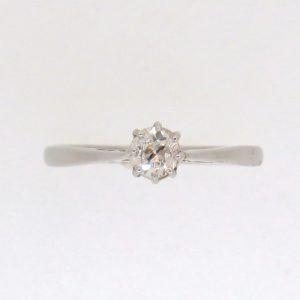 Pre-Owned Platinum Old Cut Diamond single stone ring