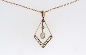 Victorian Opal and Pearl Gold Pendant