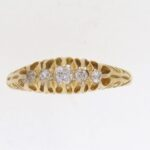 Edwardian Diamond Half Hoop Ring