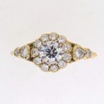 Mid Century Diamond Cluster Ring