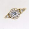 Mid Century Diamond Cluster Ring