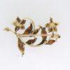 Art Nouveau Enamel Floral Brooch