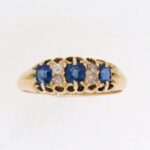 Edwardian Sapphire And Diamond Half Eternity Ring