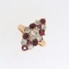 Victorian Marquise Shaped Ruby And Diamond Ring