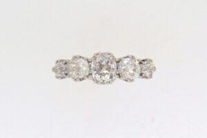Victorian Graduated Five Stone Diamond Ring